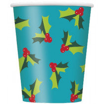 Holly Santa Cups