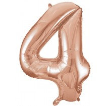 Rose Gold Giant Number 4 Foil Balloon