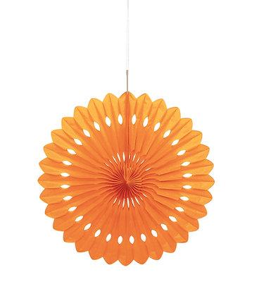 """Orange 16"""" Paper Fan"""