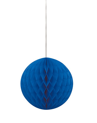 "Royal Blue 8"" Paper Honeycomb Ball"