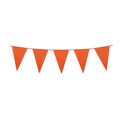 Orange Plastic Bunting