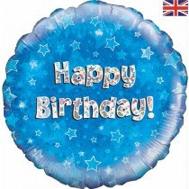 Birthday Blue Happy Birthday Std Foil Balloon