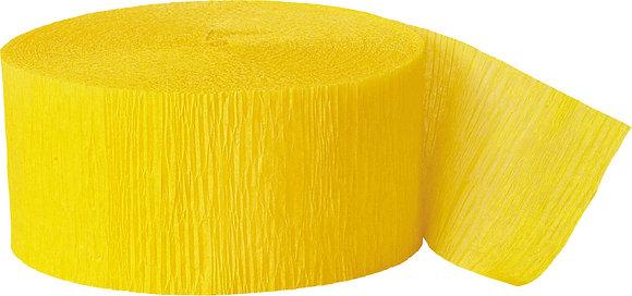 Yellow Paper Streamer