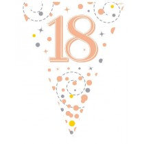 Rose Gold Age 18 Bunting