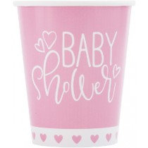 Pink Baby Shower Cups