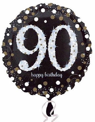 Gold Sparkle Age 90 Foil Balloon