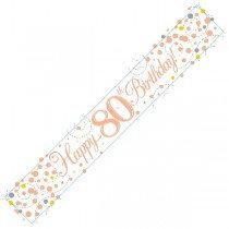 Rose Gold Age 80 Banner