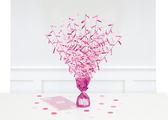 New Glitz Pink Balloon Weight Centrepiece