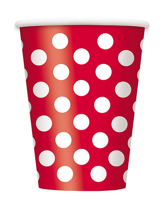 Red Dotty Cups