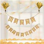 Gold Cake Bunting