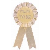 Yellow Mum To Be Rosette