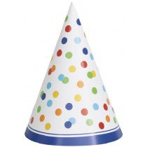 Rainbow Dot Party Hats