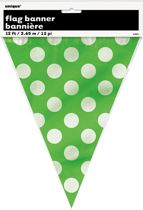 Lime Green Dotty Plastic Bunting