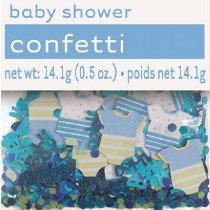 Blue Baby Shower Confetti