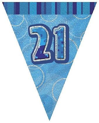 Blue Glitz Age 21 Bunting