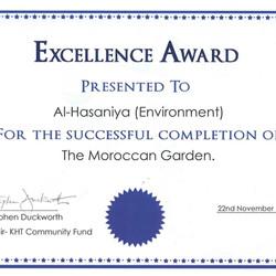 Excellence Award Moroccan Garden