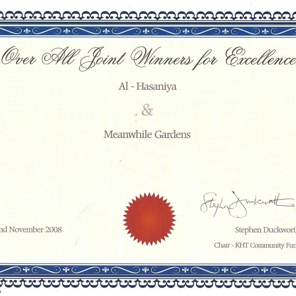 Overall Winners Excellence Garden