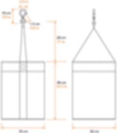 Bi Quadro chain bag