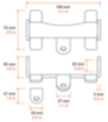 Bi Quadro chain bag wing bracket kit