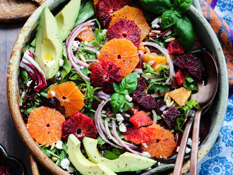 WINTER CITRUS SALAD WITH AVOCADO AND GOAT CHEESE