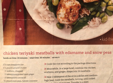 A Dr. K Favorite Recipe: Chicken Teriyaki Meatballs