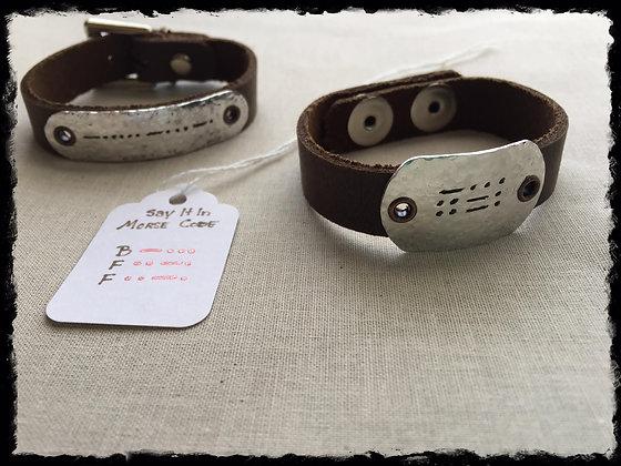 Say It In Morse Code Bracelet