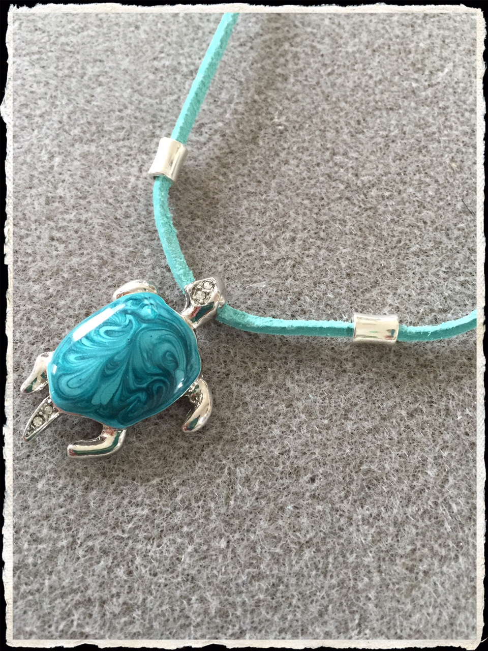 Summer Suede Collection- Aqua Turtle