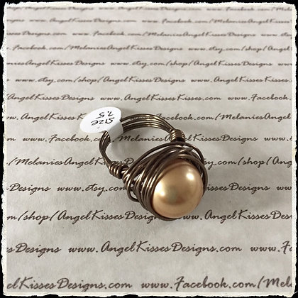 Pearl Nested Ring- Bronze N Gold