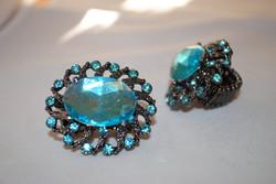 Chunky Turquoise Rhinestone Ring