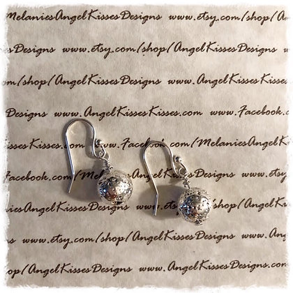 Silver Snowball Earrings