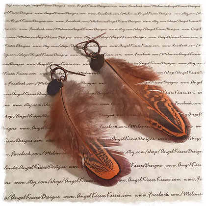 Falling Feathers Collection- Rust