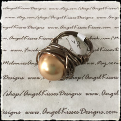Pearl Nested Ring- Bronze 7