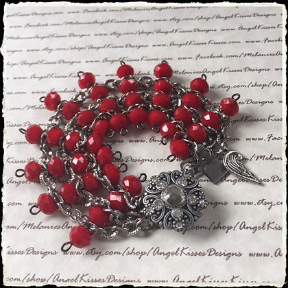 the Chained Melody Bracelet- Ruby