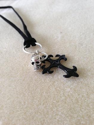 Gothic Cross N Skull Cording