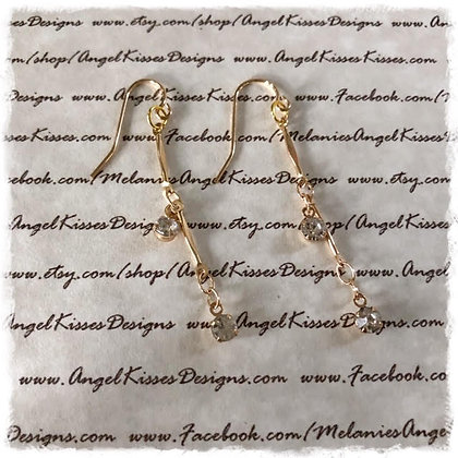 Gold Crystal Drop Earrimgs