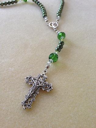 Pearl N Glass Rosaries