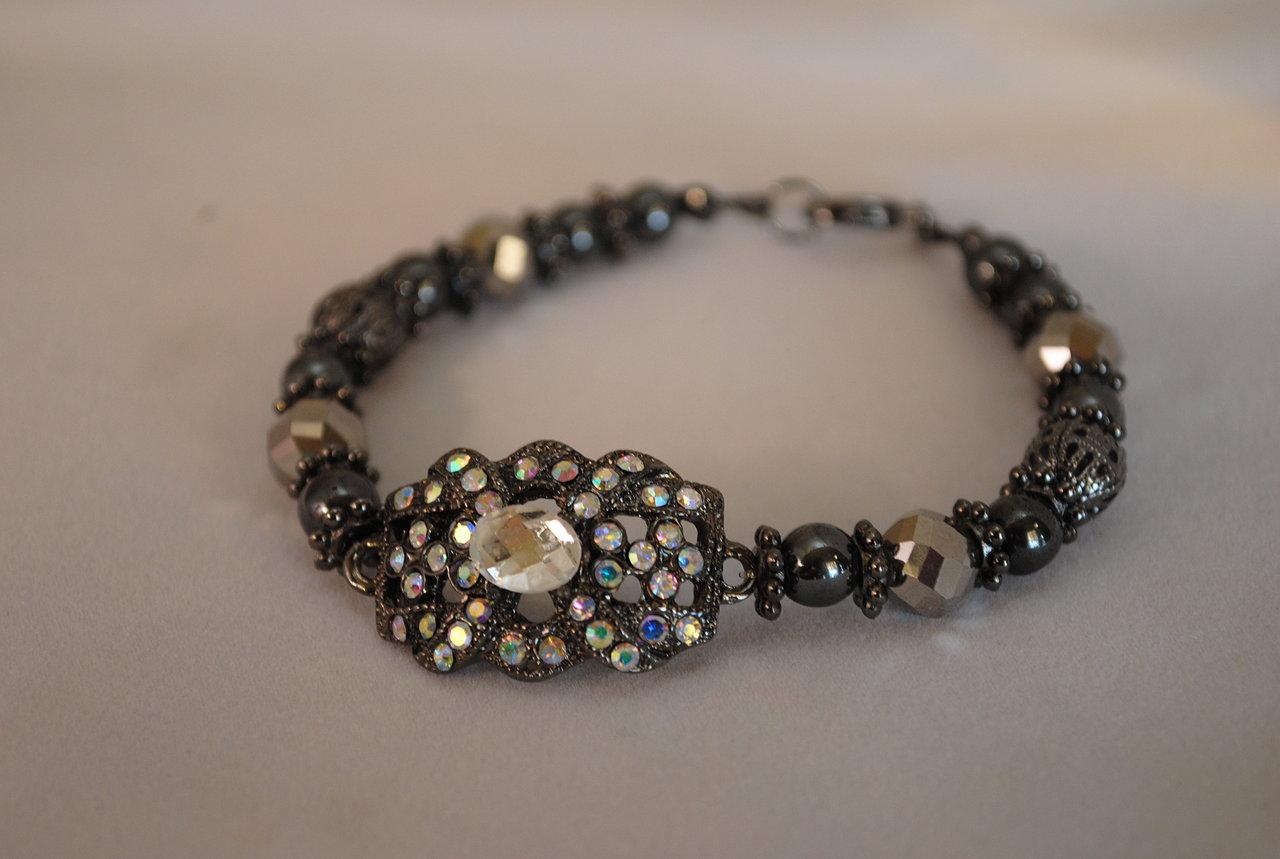 Hematite N Gunmetal Bracelet