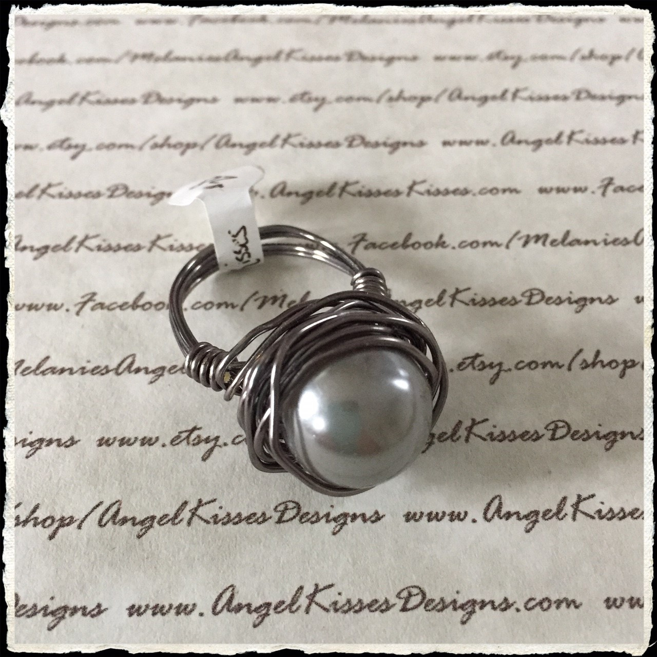 Pearl Nested Ring- Gray 8