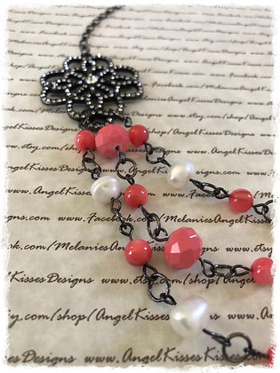 Victorian Coral Multi Layer Necklace