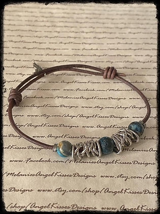 Chained Up- Blue Agate