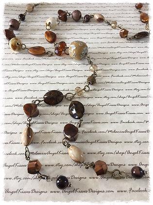 XL Beaded Necklace- Safari
