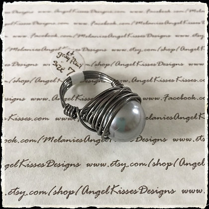 Pearl Nested Ring- Gray