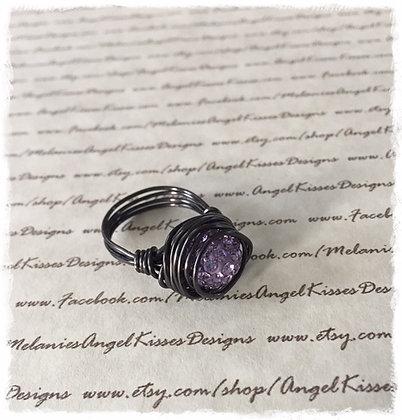 Nested Snowball Ring- Lavender