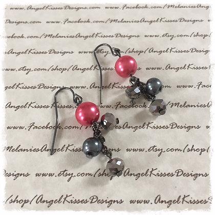 Raspberry Coal Dangles