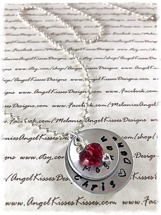 Family Hand-Stamped Pendant
