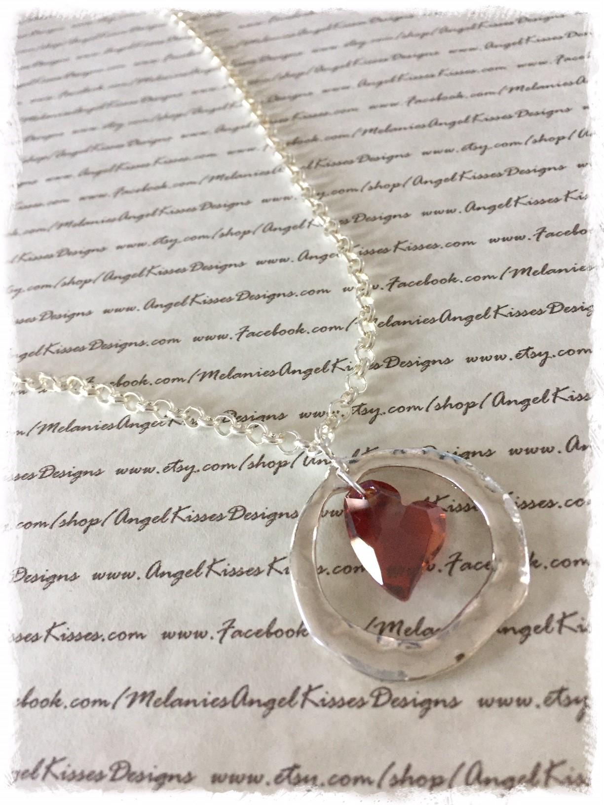 Swarovski Freeform Circle Pendant- Magna Heart