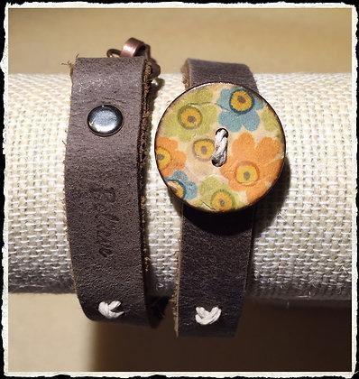 Insprirational Coconut Button Wrap- Believe