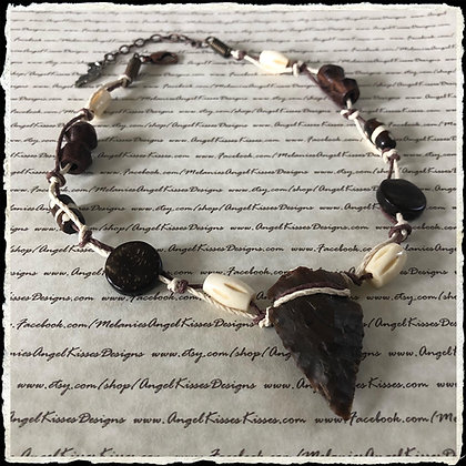Tribal Choker- Stone Arrowhead