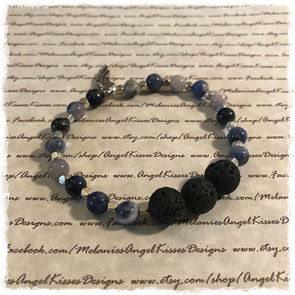 Aromatherapy Diffuser Stretch Bracelet- Midnight