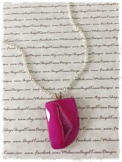Simply Gemstone-Raspberry Druzy